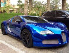 Supercar: Chrome Blue Bugatti Veyron Centenaire