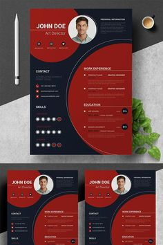 We Create Unique, High-Quality Resume Templates That Help You To Get Your Dream Job ! Every Resume Template is completely customizable, so you can use any Modern Resume Template, Resume Design Template, Creative Resume Templates, Cv Template, Web Design, Header Design, Design Trends, Basic Resume, Free Resume