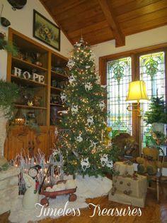 Timeless Treasures : Dollar Tree Saved Christmas ... $ TREE decorations