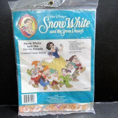 Disney Snow White and the Seven Dwarfs Counted Cross Stitch Kit Complete Sealed #DisneySymbolofExcellencePublishersInc #SnowWhiteandtheSevenDwarfs