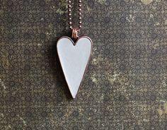 Plum Tree Design - Heart Pendant