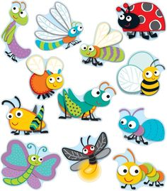 """Carson-Dellosa """"Buggy"""" for Bugs Cut-Outs Teacher Cubby Tags, Calendar Activities, Sorting Activities, Carson Dellosa, Bugs And Insects, Classroom Themes, Classroom Setting, Game Pieces, Coordinating Colors"""