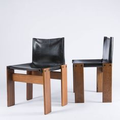 """Pair of """"Monk"""" Chairs by Afra and Tobia Scarpa for Molteni image 3"""