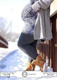 Love this winter maternity photo