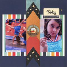 First Medal - Scrapbook.com - Made with the Scrapbook.com kit club June kit Nautical Days.