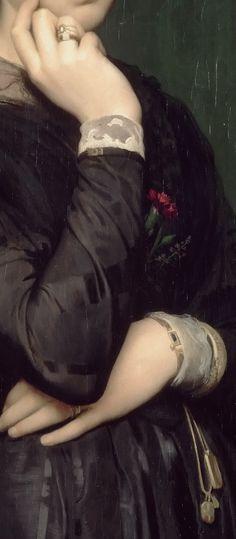 Hippolyte-Jean Flandrin -- Portrait of Madame Flandrin, the Artist's Wife