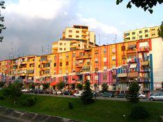 Painted Houses - Tirana, Albania
