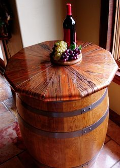 Wine Barrel Copper Table - Made from An Enchantment Copper Sheet
