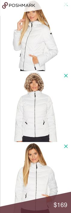 ❄️LAST CHANCE❄️ Obermeyer Bombshell Jacket ❌No trades  - ❌ ALL sales are final 💗Be courteous no low balls 💌Reasonable offers accepted 📦 Ships out same day or next - depending what time of day you ordered ⬇️Have a question? Leave a comment 😀  Product Info📝 🔗Color: White 🔗Style: Zip up, attached hood, removable fur 🔗Worn a handful of times / only damage is to left upper arm which is displayed in last photo Obermeyer Jackets & Coats Puffers
