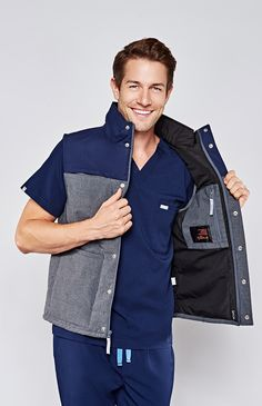 Nurse Vests When an extra layer of protection or warmth matters, Scrubs & Beyond is there with a selection of nurse vests, women's medical lab coats and nurse coats to suit every work environment. Shop for medical scrub vests made by the most trusted brands like Landau, Cherokee and Med Couture.