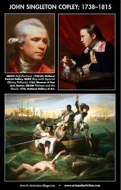 "Happy birthday to John Singleton Copley, born July 3, 1738. "" ... the foremost artist in colonial America... virtually self-taught as a portraitist. ... After he emigrated to London in 1774, Copley began to specialize in narrative scenes from history and joined the influential artistic institution, the Royal Academy of Art.""—National Art Gallery"