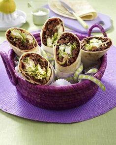 Wraps mit Hack-Salat-Füllung