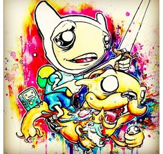 """""""Adventure Time with Finn and Jake"""" by Alister Dippner  #IMAMACHINIST #GhostTown"""