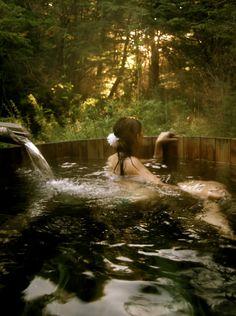Onsen, hot spring, southern chile, montanas, lake