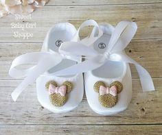 Oro y rosa Minnie Mouse traje de cumpleaños por SweetBabyGirlShoppe