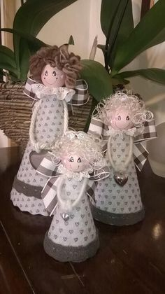 All to Create . Christmas Makes, Christmas Angels, Christmas Art, Christmas Projects, Christmas Ornaments, Angel Crafts, Holiday Crafts, Diy Y Manualidades, Handmade Angels