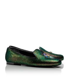 Tory Burch Smoking Slipper #iridescent love these and super comfy!