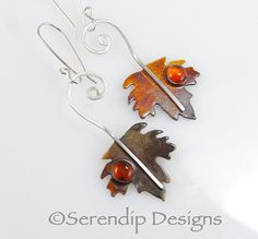 Silver Patina Maple Leaf Earrings with by SerendipDesignsJewel, $56.00