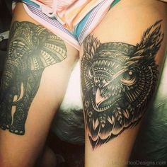 37 Best Owl And Elephant Tattoos Images Elephant Tattoos Owl