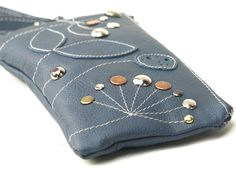 Leather Bag Wristlet Leather Wallet Clutch Purse by EightSeasons