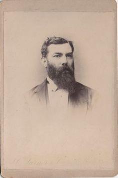 Cabinet Photo Card Victorian Bearded Man  - London Studio 1890s