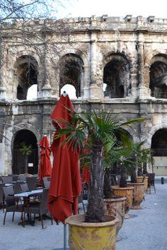 Roman coliseum in Nimes, France