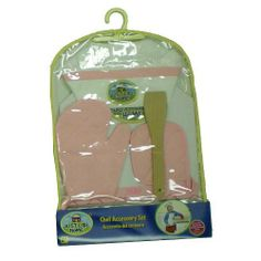 Just Like Home Lil Chef Accessory Set - Red by RJ Quality Products. $8.99. With our Just Like Home Lil Chef Accessory Set, your little one can join you in the kitchen! The Just Like Home Lil Chef Accessory Set includes an apron, chef's hat, oven mitt, potholder and wooden spatula.br>Toys'R'Us exclusive Just Like Home pretend play kitchens, grocery and restaurant toy play sets give your kids everything they need to become the next great celebrity or reality show super chef! Gr...