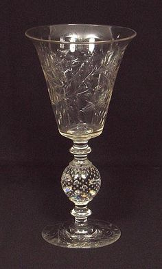 Pairpoint Glass Patterns | PAIRPOINT CUT GLASS VASE. Pairpoint cut crystal vase, shape B-1083 cut ...