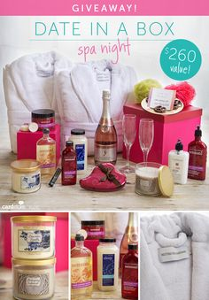 "Cardstore Blog is giving away a ""Date in a Box: Spa Night"" worth $260!"