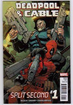 Deadpool and Cable Split Second Marvel Comics, Don Slott Story. Rare Comic Books, Comic Books For Sale, Comic Books Art, Frank Miller, Marvel Girls, Deathstroke, Jean Grey, Power Girl, Deadpool