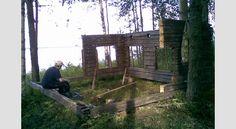 IDEA 2011 -kilpailun voittaja: Huvimaja vanhoista hirsistä Trunks, Plants, Drift Wood, Tree Trunks, Plant, Planets