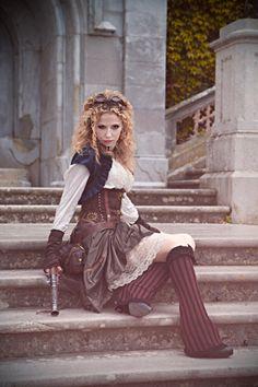 "steampunkgirls: ""Model: Catbimba Style, photo and editing: THE.ORY """