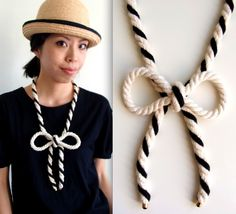 BIG Bow Rope Necklace