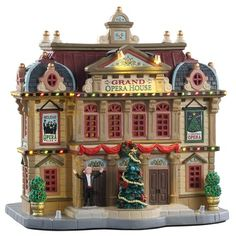 Lemax Collection Grand Opera House Exterior Lighted Building New 2019 Lemax Christmas Village, Lemax Village, Halloween Village, Christmas Villages, Villas, Victorian Greenhouses, Christmas Village Collections, Buy Christmas Tree, Xmas