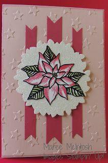 Maree McIntosh Stampin' Up Demonstrator: INKspired Sketch Blog Hop 29 - Reason for the Season stamp set, Wonderful Wreath Framelits, Blushing Bride, Rose Red,