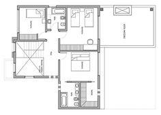 2ndo piso Estudio NF y Asociados - Casa Estilo Actual Racionalista - Arquitecto…