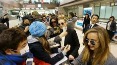 Little Mix arriving in Japan