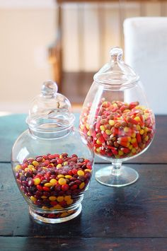 Glass apothecary jars - favourite decorative item at the moment.