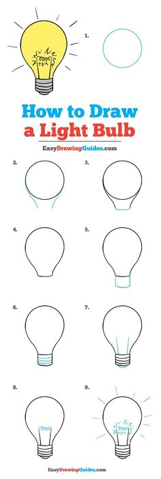 bulb draw drawing easy step easydrawingguides beginners tutorial drawings bulbs doodle tutorials things really painting simple steps learn guide read
