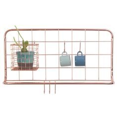Buy Open Grid Kitchen Rack - Copper from our Wall Organisers range at Red Candy, home of quirky decor. Kitchen Rack, Decor, Home Accessories, Kitchen Storage Rack, Metal Bar Stools, Copper Kitchen, Kitchen Storage, Hanging Rail, Home Decor Items