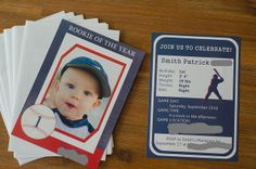 Rookie of the Year Birthday Invites by Pink Parsley Blog, via Flickr