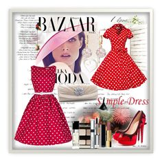 """Simpledress 18"" by zijadaahmetovic ❤ liked on Polyvore featuring Bela, Christian Louboutin, Kevyn Aucoin, By Terry and Chanel"