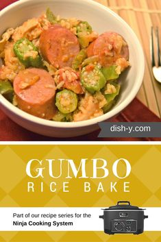 Inspired by the recipe in Paula Deen's Deen Family Cookbook, this delicious Gumbo Rice Bake is created especially for the Ninja Cooking System.