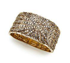 Pulseira de Ouro Nobre 18K com diamantes cognac - Coleção Stars Déco Link:http://www.hstern.com.br/joias/p-produto/P1B169963/pulseira/stars/pulseira-de-ouro-nobre-18k-com-diamantes-cognac---colecao-stars-deco