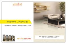 Arihant Anchal - Jodhpur 2 BHK Apartments Vitrified Flooring & Designer Wall Tiles www.asl.net.in/arihant-anchal.html #ArihantAnchal #RealEstate #Jodhpur #Rajasthan #Property #LuxuryHomes