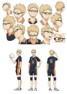 Manga Haikyuu, Haikyuu Tsukishima, Kuroo, Anime Manga, Anime Guys, Character Sheet, Character Design, Hiro Big Hero 6, Inu Yasha