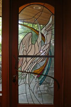 Stained Glass Door by James Hubbell