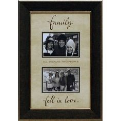 Artistic Reflections Family…All Because Two People Picture Frame