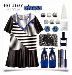 """Holiday Style: Oversized Dresses"" by alaria ❤ liked on Polyvore featuring Miss KG, Steve Madden, Swarovski, Estée Lauder, Byredo, Laura Ashley, holidaystyle and oversizeddress"