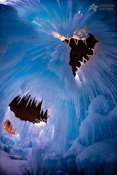 Ice Castle Windows To The Starry Night - Breckenridge - Colorado - USA